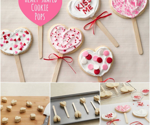 valentines, heart cookies, and love image