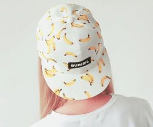 banana, fashion, and cap image