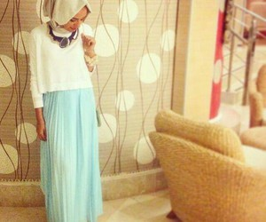 hijab, skirt, and fashion image