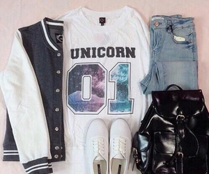 unicorn, outfit, and style image