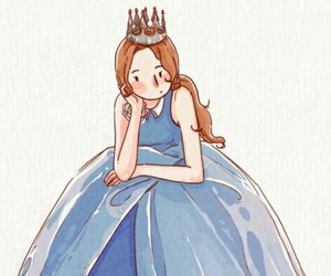 drawing, cute, and princess image