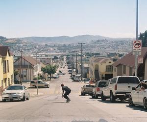 california, summer, and skater image