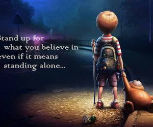 believe, alone, and quote image