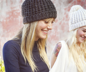 blonde, hats, and smile image