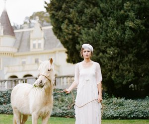 bridal, horse, and photography image