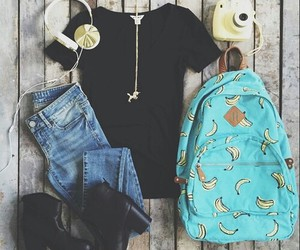 outfit, clothes, and banana image