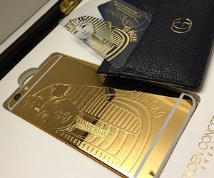 concept, gold, and iphone6 image