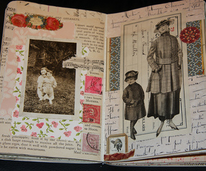 art, diary, and vintage image