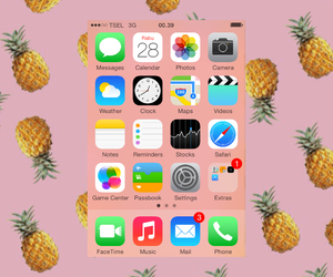 pineapple, pinky, and my iphone image