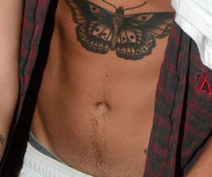 abs, happy trail, and heaven image