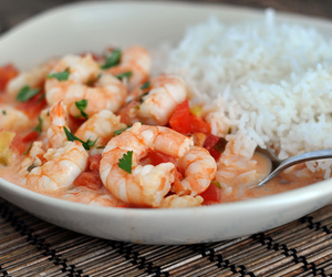 food, rice, and shrimp image