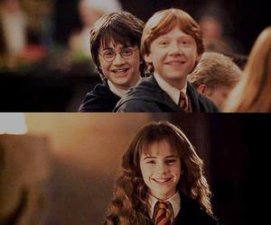 harry potter, hermione granger, and ron image