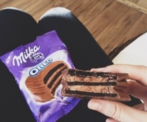 chocolate, oreo, and milka image