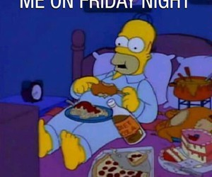 simpsons, friday, and food image