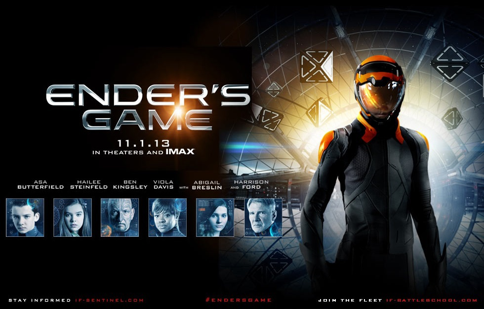 abigail breslin, harrison ford, and ender's game image