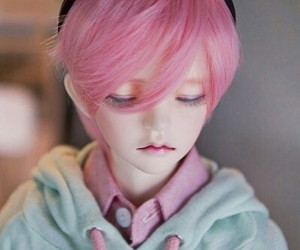 doll, boy, and pink image
