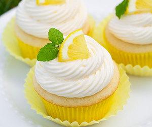 lemon, cupcakes, and food image