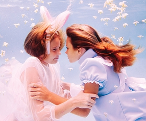 alice, water, and alice in wonderland image