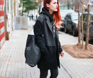 black, red shoes, and fashion image