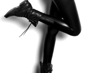 black, boots, and black and white image