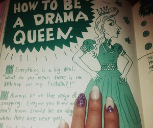 book, drama queen, and graphic design image