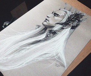 art, elf, and elvenking image