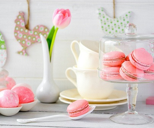 pink, food, and macarons image