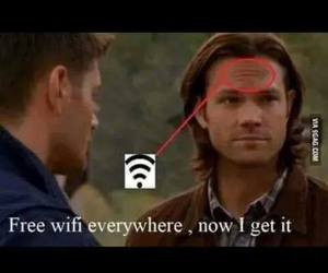 supernatural, funny, and wifi image