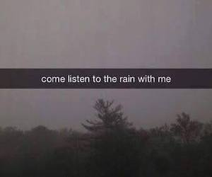 rain, sad, and listen image