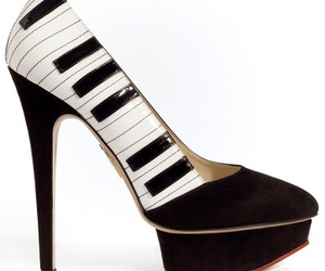 piano, shoes, and music image