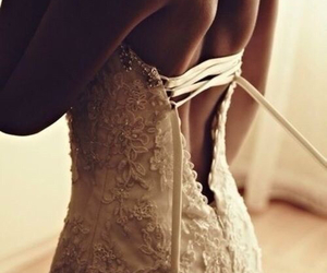 bride, white, and classy image