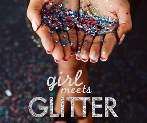 colorful, glitter, and girl image