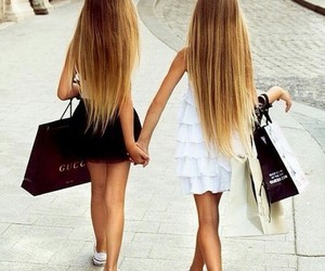 shopping, friends, and hair image