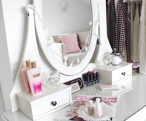 room, vanity, and white image