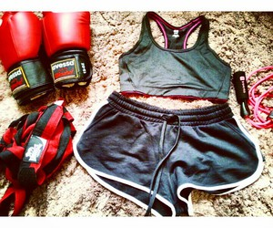 box, boxing, and fitness image