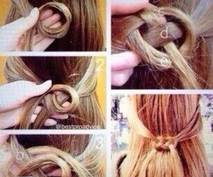 diy, hair, and style image