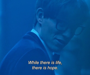the theory of everything, eddie redmayne, and hope image