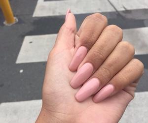 nails, pink, and girls image