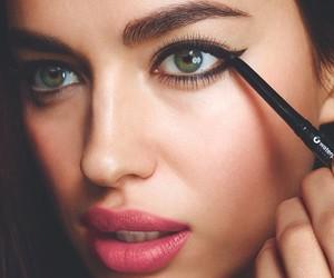 eyes, makeup, and irina shayk image