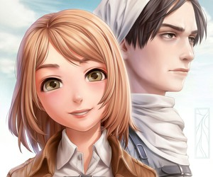 levi, petra, and attack on titan image