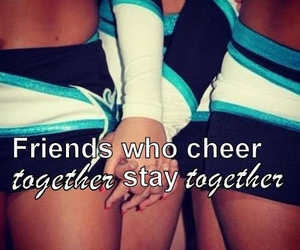 cheer, cheerleading, and friends image
