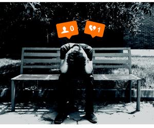 instagram, sad, and love image