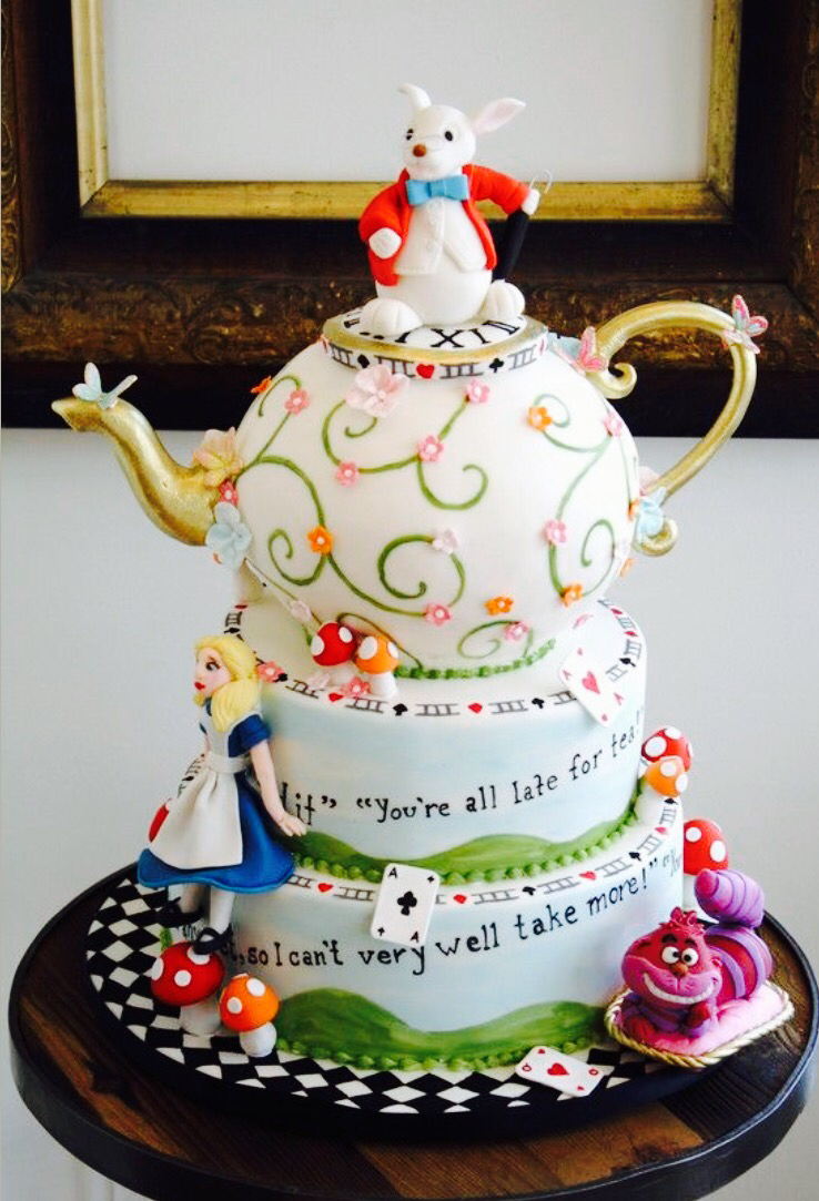 Brilliant Alice In Wonderland Birthday Cake Amazing Personalised Birthday Cards Cominlily Jamesorg