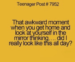 teenager post, mirror, and funny image