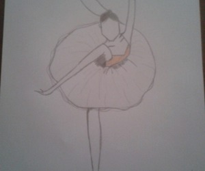 black and withe, dancing, and draw image