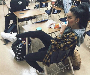 girl, school, and style image