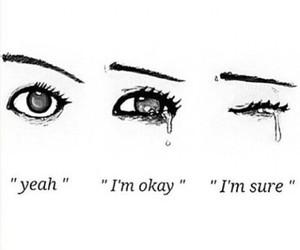 sad, cry, and eyes image