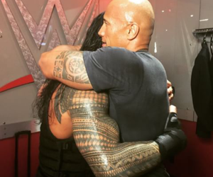 wwe, the rock, and roman reigns image