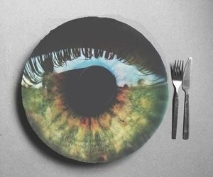 eye, green, and grunge image