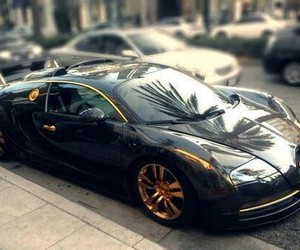 car, black, and bugatti image